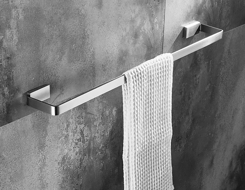 MJG-YJ Towel Rack/Bathroom Single Towel Rack (304 Stainless Steel) Wall-Mounted Bathroom Towel Rack Simple Style (Size : 800mm)