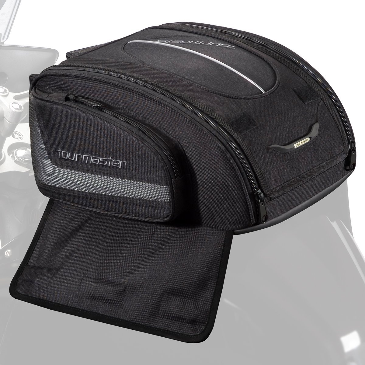 Tourmaster 8215-1305-04 Black Select Strap Mount Tank Bag