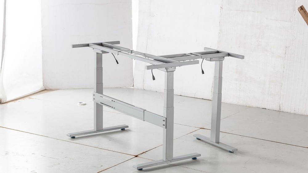 motorised adjustable table leg r assisted by pneumatic strut u0026height adjustable table frame