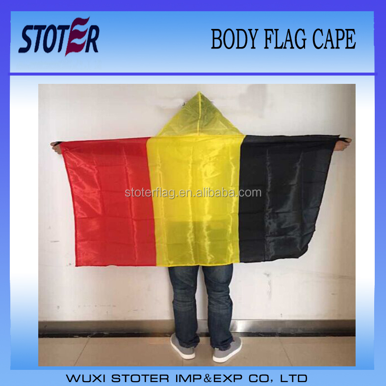 Belgium body flag cape for UEFA EURO 2016