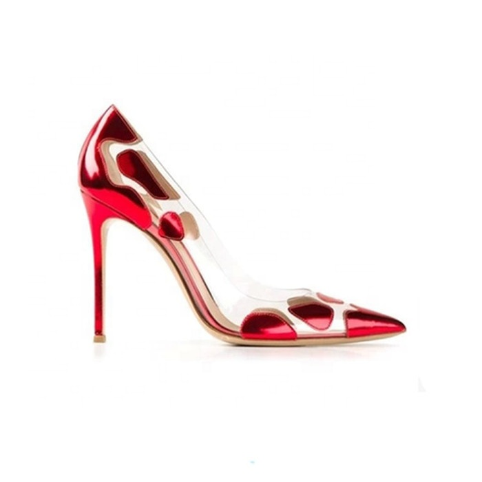 Women's Pointed-Toe European Elegance Color Pump Stiletto Sexy High <strong>Heels</strong> With Printing