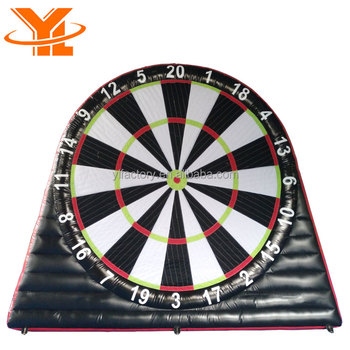 Double Sided Inflatable Soccer Dart Ball Target Game For Kids And