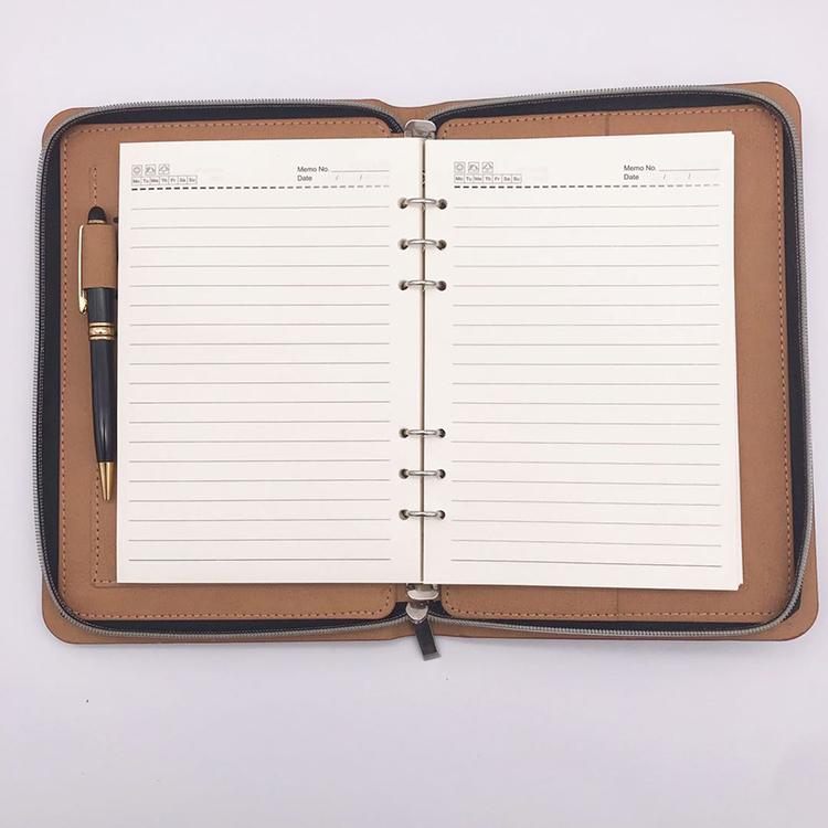 Wholesale office stationery a4 conference organizer pu leather portfolio folder