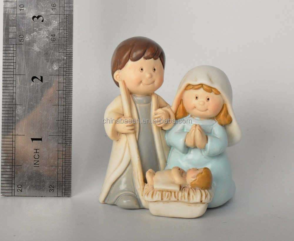 new promotional polyresin personalized christmas nativity set gifts