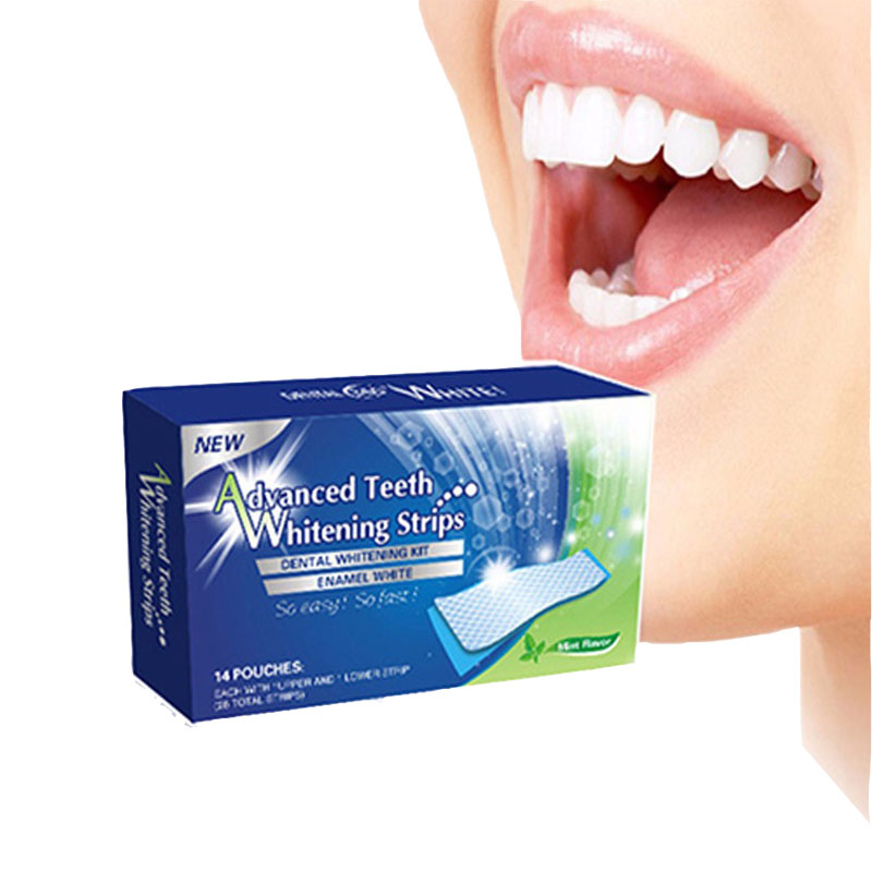 3D Hot-sale Teeth Whitening Strips Gel Dental Bleaching Tooth Whiten Strips Care Oral Hygiene Private Label
