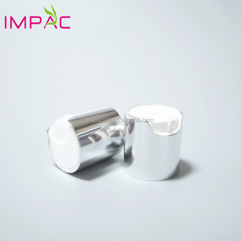20/410 cosmetic silver disc top cap for small shampoo bottles
