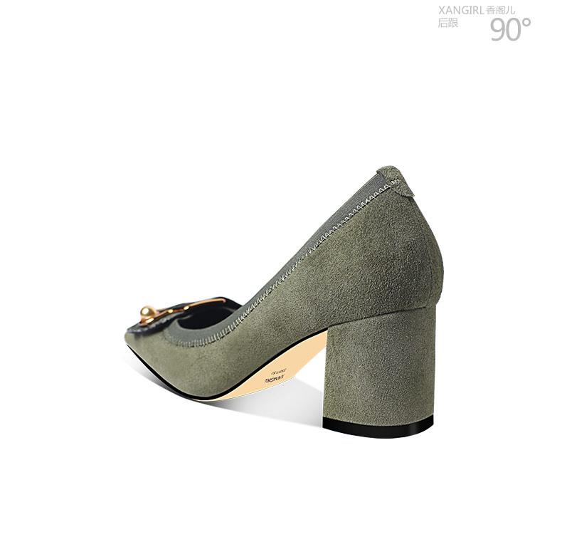 women heel genuine high leather Simple design decorated metal snakeskin shoes n7qwS
