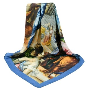 Digital Printing Silk Scarves Women's Large Square Twill Neck Scarf