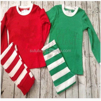 9f037e8f8 Popular Girls Clothing Brands Solid Cotton Blank Top And Casual Stripe Pant  Bulk-Wholesale-