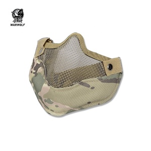 V9 air soft tactical protective half face net steel safty sports mask with good price