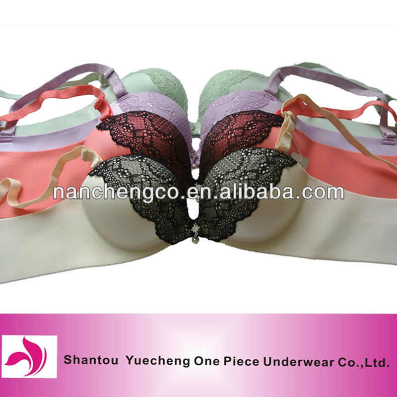 newest design ultrasonic bra with lace
