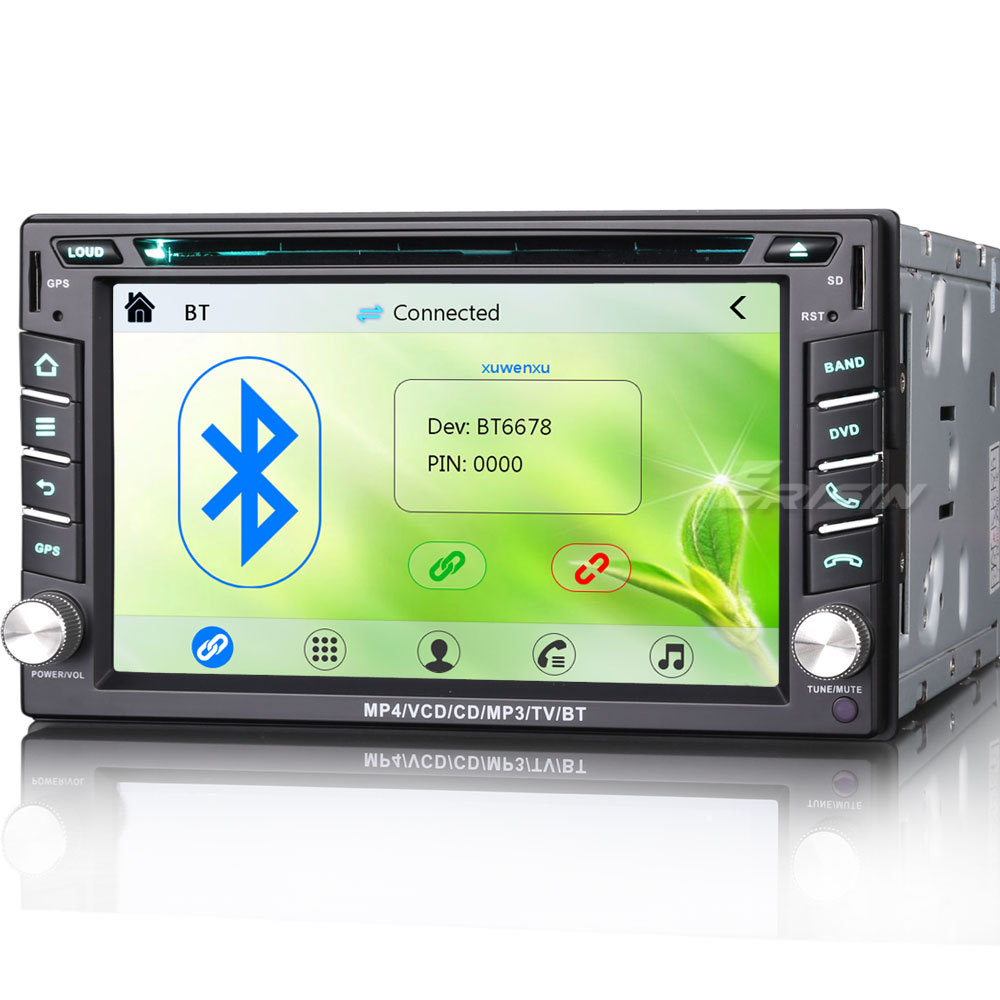 "6.2"" Touch Screen Double Din Car DVD 2 Din Car Radio Two Din Car GPS with Car Recorder & WIFI/3G Function"