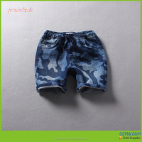 2017 New arrival wholesale cotton Camouflage denim kids board shorts
