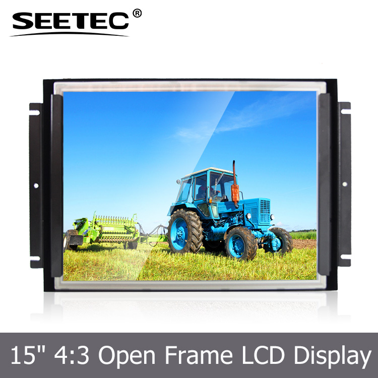 15 inch open frame lcd monitor 1024x768 advertising display screen industrial open frame lcd monitor