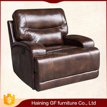 Cheap Divan China Brwon Leather Motion Recliner Chair