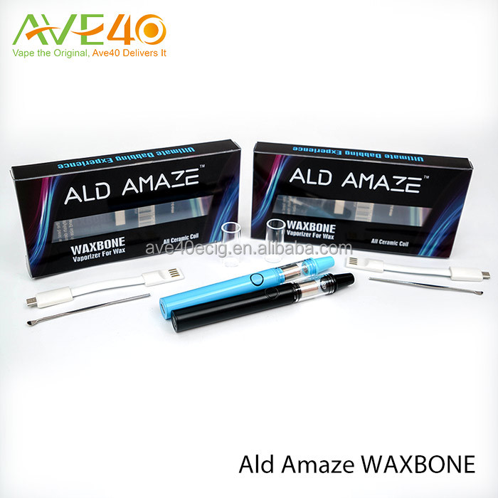ALD AMAZE Waxbone vaporizer pen Stainless Steel Head with Low Resistance Cermaic Coil