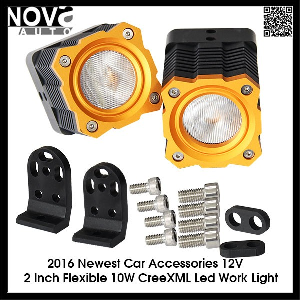 Auto Accessories 2 Inch 2 Pcs Driving Light Work Light Led