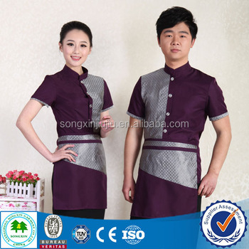 Best seller hotel restaurant service staff uniform with good quality