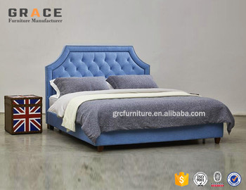 Best Sale Cushion Headboard Velvet Bed With Hydraulic Bed Frame