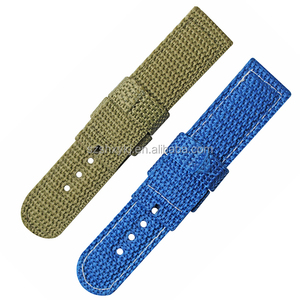 Custom Cotton Fabric Fiber Canvas Watch Strap