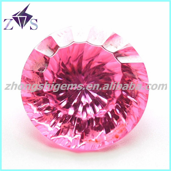 Dazzling Round Machine Concave Cut CZ Stone Lowest Price