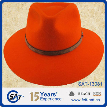 Solid Blaze Orange Mountain Wool Felt Hat Buy Mountain