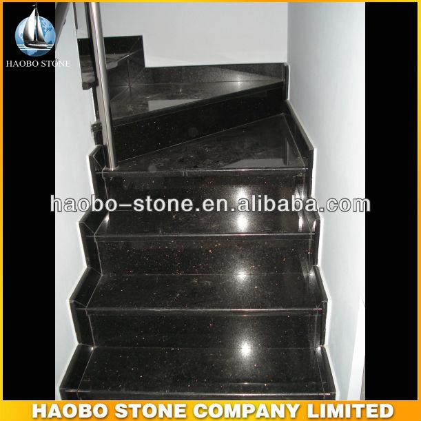 Haute Qualit Noir Galaxy Int Rieur Granit Escaliers Escaliers Id De Produit 1520338556 French