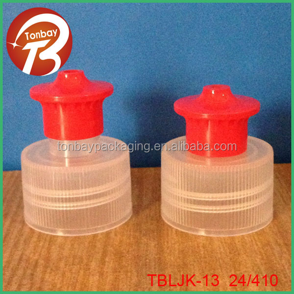 Push pull cap 24/410 kinds of push pull caps for bottles TBLJK-13