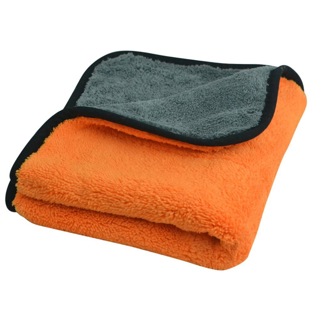 Microfiber Cleaning Cloths, Lint Free Microfiber Super Thick Dual Layer Ultra-Thick Car Polishing and Drying Cloth Auto Detailing Towels,Car Cleaning Towels 4538cm(Random Color)