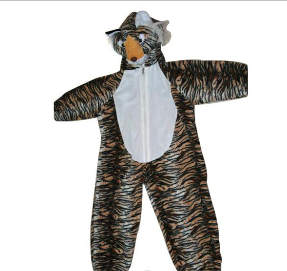 Party Supply Halloween Clothes Soft Tiger Animal Clothes for Child