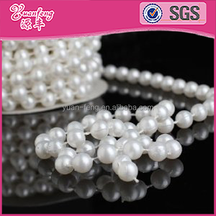 wholesale abs 8mm pearl string rolls of beads pearl