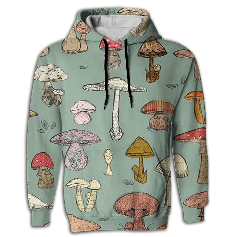 c7fe8d590 Get Quotations · Mens 2017 Cool Mushroom Hoodie Design Vintage Hooded  Sweatshirt Hip Hop High School Big Boys Hoodie