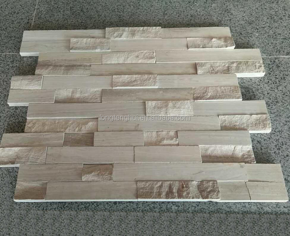 Chinese wooden grey marble waterfall cheap stone veneer with best quality