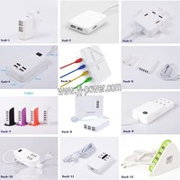 universal travel adapter with usb charger 5v 1a 2.1a 3a 4a 6a 8a, multi-function travel plug for mobile phones