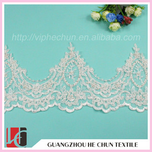 WHB-208 Gold Cord Embroidery Lace Bead Trim for Paper Cards