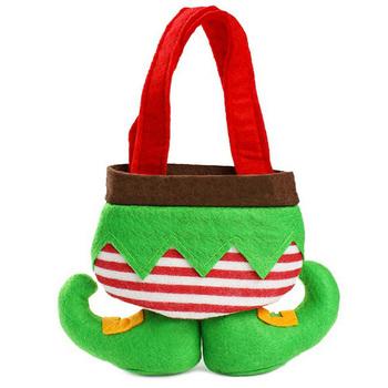 Elf Christmas Gift Bags.Christmas Gift Bags Christmas Elf Foot Gift Bag Monogrammed Holiday Secret Santa Candy Bags Elf Sock Buy Christmas Gift Bag Santa Candy Bags Foot