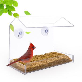 Hot sale Latest Design Acrylic Transparent Window Bird Feeder