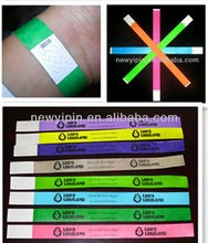 Cheap Printed Tyvek/Paper Wristband/Bracelet For Events/Christmas Gift