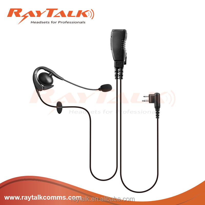 Light weight Boom microphone headset with big round PTT for Eads TPH700