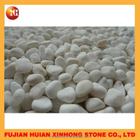 White decoration outdoor garden pebble stone