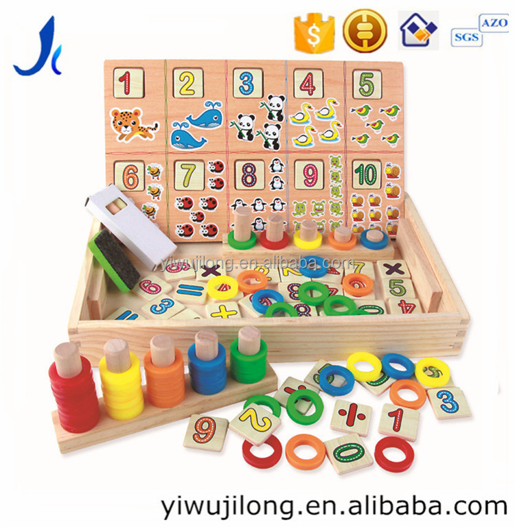 Multi-functional sketchpad digital matching ring donuts digital computing boxes, wooden toys