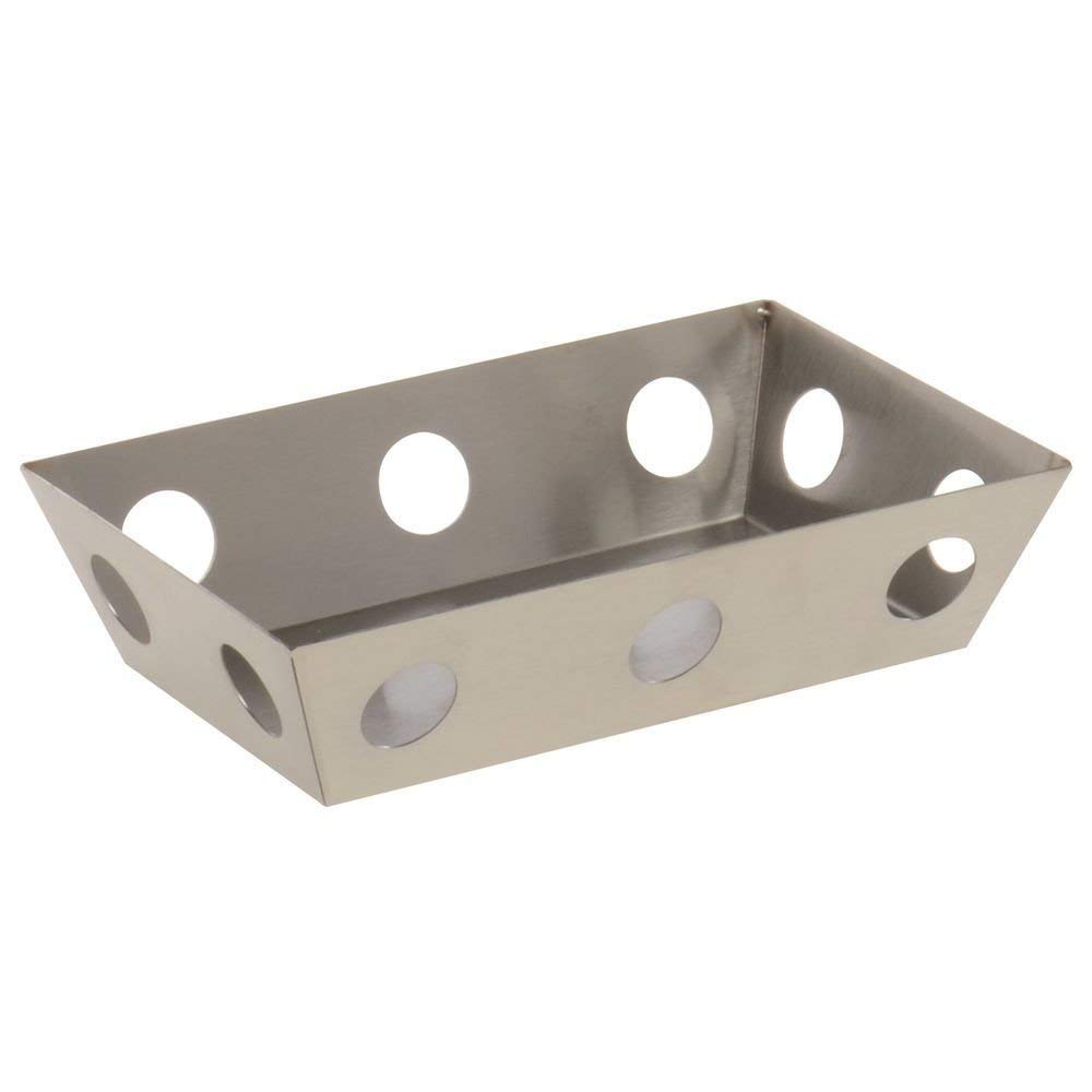 """Expressly Hubert Futuristic Stainless Steel Display Tray - 8 3/4""""L x 5 1/4""""W x 2 1/8""""H"""