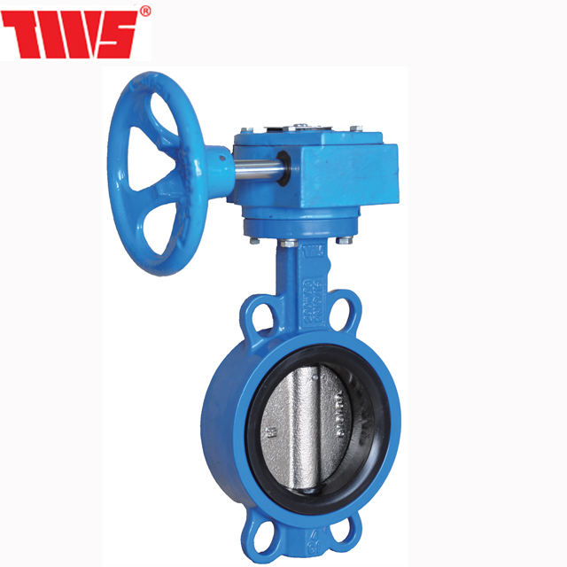 DN40-600 PN10/16 manual gear operated butterfly valve