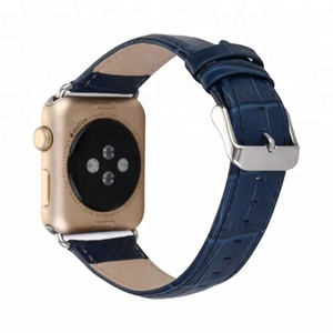 For Apple Watch 38mm 42mm Crocodile Pattern Leather Wrist Watch Band Strap Belt