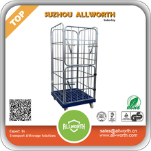 Rolling Laundry Warehouse Cage with Plastic Shelves