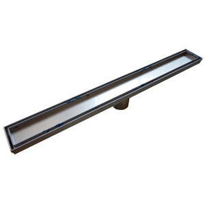 Stainless Steel Long Linear Tile Insert Floor Drain / Hotel Bathroom Shower Drain