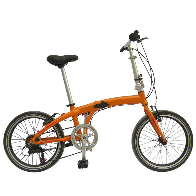Factory Supply Orange Color 20 Inch 6 Speed Aluminum Alloy Folding Bike