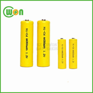 Rechargeable nicd aa 300mAh 1.2V battery single cells