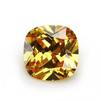 Cushion cut golden yellow grade aaaaa cubic zirconia any size available