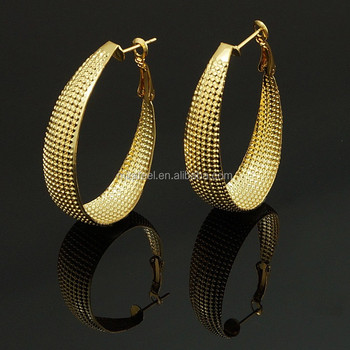 New 2017 Latest Gold Round Earring Designs